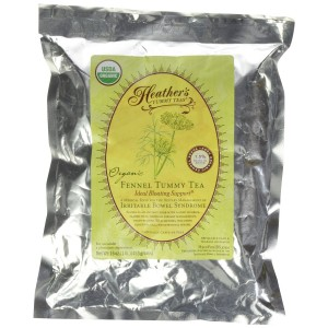 Heather's Tummy Teas Organic Fennel Loose Tea POUCH (16 oz) for IBS