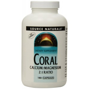 Source Naturals Coral Calcium/Magnesium 2:1 Ratio, 180 Capsules