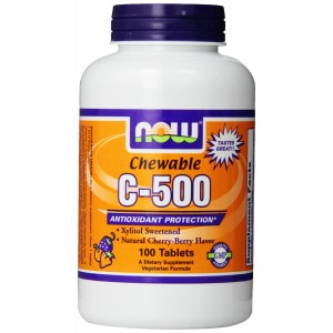 Now Foods C-500 Chewable, Cherry-Berry, Tablets, 100-Count