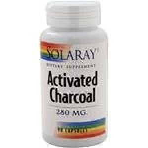 Solaray Activated Charcoal Capsules, 280 mg, 90 Count