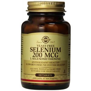 Solgar Yeast-Free Selenium Tablets, 200 mcg, 100 Count
