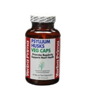 Yerba Prima Psyllium Husks, 180 Veg Capsules