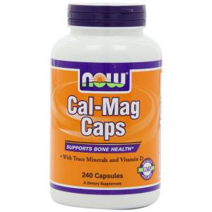 NOW Foods Cal-mag Capsules, 240 Capsules