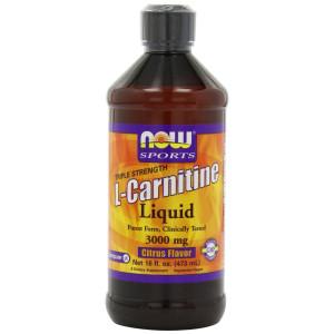 NOW Foods L-Carnitine Liquid 3000mg, Citrus Flavor, 16 ounce Bottle