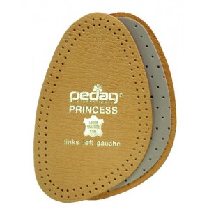 Pedag 101 Princess Cushioning Leather Half Forefoot Insole, Tan, Women's 7/8
