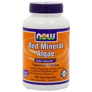 Now Foods Red Mineral Algae, aquamin, Veg-Capsules, 180-Count
