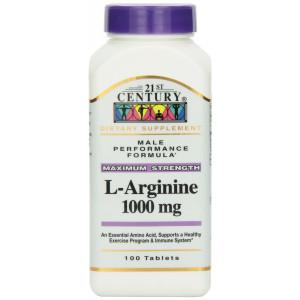 21st Century L-Arginine 1000 Mg Tablets, 100-Count