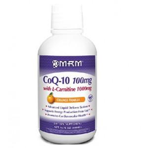 MRM, Co-Q10 100 mg, W/ L-CARNITINE 1000 mg, Orange-Vanilla Flavor, 16oz.