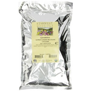 Starwest Botanicals Organic Slippery Elm Bark Powder, 1-pound Bag