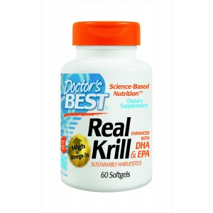 Doctor's Best Real Krill Enhanced with DHA and EPA, 60-Count