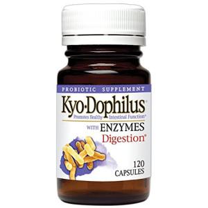 Kyolic Kyo-Dophilus Probiotics Plus Enzymes Capsules, 120 Count