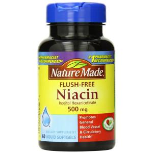 Nature Made Flush-free Niacin 500 Mg, Liquid Softgels, 60-Count