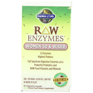 Garden of Life RAW Enzymes(TM) Women 50 and Wiser, 90 Capsules