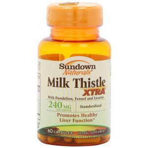 Sundown Naturals Milk Thistle XTRA Capsules - 60ct Bottle