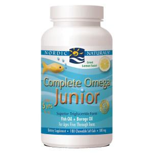 Nordic Naturals Complete Omega Junior Fish oil, 500 mg, 180 soft gels,(Lemon Taste)
