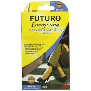 Futuro Ultra Sheer Knee Highs for Women, Nude, Medium