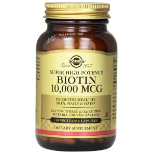Solgar Biotin Vegetable Capsules, 10,000 mcg, 120 Count
