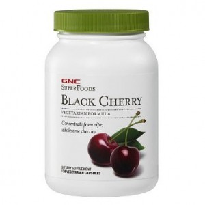 GNC SuperFoods Black Cherry (One Bottle of 250 mg 120 Count)