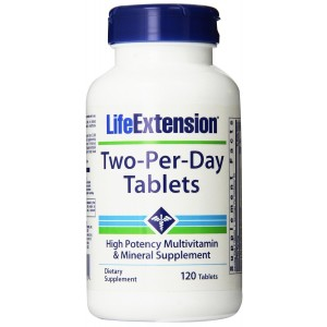 Life Extension Two-Per-Day Tablets, 120 Count