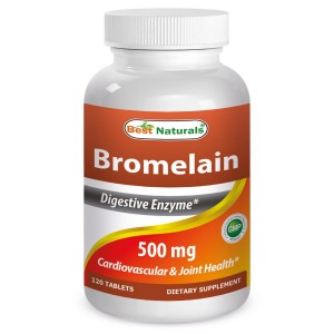 #1 Bromelain 500mg 120 Tablets by Best Naturals - Natural Proteolytic Enzyme - Manufactured in a USA Based GMP Certified Facility and Third Party Tes