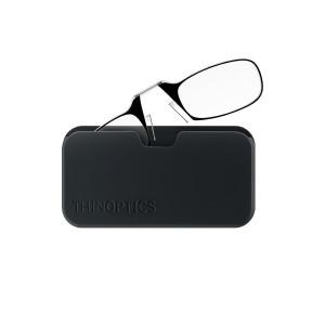 ThinOPTICS Reading Glasses on your Phone, +1.50 Black Glasses, Black Universal Pod Case