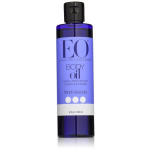 EO - Body Oil massage and moisturize, French Lavender, 8 oz liquid