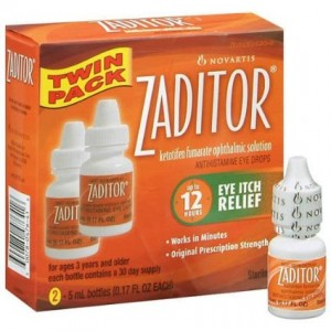 NOVARTIS PHARMACEUTICAL Zaditor Eye Itch Relief, 2 Count