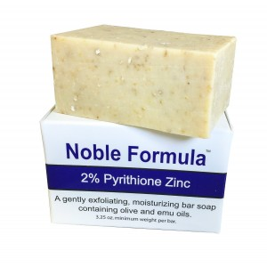 Noble Formula 2% Pyrithione Zinc (ZnP) Bar Soap 3.25 oz - Hand Crafted in the USA, Especially Formulated for Those with Psoriasis, Eczema, Dry and Se