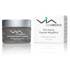 Anti-Aging Peptide MegaMud - Cleansing, Tightening, Smoothing, Moisturizing, Rejuvenating - Facial Mud Mask Enhanced with Matrixyl 3000, Argireline,