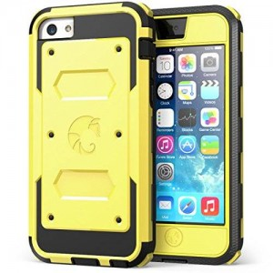 i-Blason Armorbox for Apple iPhone 5C Dual Layer Hybrid Protective Case with Built-in Screen Protector and Impact Resistant Bumpers (Yellow)