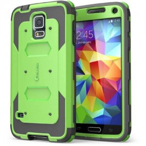 i-Blason Cell Phone Case for Samsung Galaxy S5 - Retail Packaging - Green