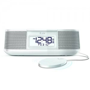 TimeShaker Micro by iLuv (Dual Alarm Clock Bluetooth FM Stereo Clock Radio with Bed Shaker Alarm and USB Charging Port) for Apple iPhone