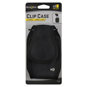 Nite Ize Clip Case Cargo Wide Load for Smartphones - Retail Packaging - Black