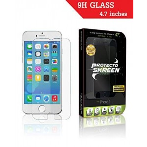 "The E-Cell Store iPhone 6/6s Screen Protector-PROTECTO SKREEN-Tempered Glass-Great Low Price-Best Highest Quality Product For Your 4.7"" Apple iPhone"