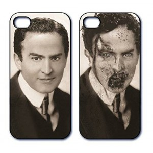 Dimension 9 3D Lenticular iPhone 5/5s Cell Phone Cover - Retail Packaging - 1920s Zombie Gentleman, Black and White