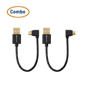 Cable Matters (Combo-Pack) USB Power Cable for TV Stick and Charging Cable for Power Bank 6 Inches - Compatible with Chromecast