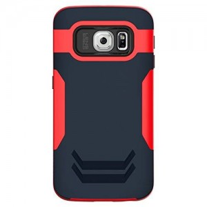 INGRAM Gram3 Heroes Cell Phone Case for Samsung Galaxy S6 Edge - Retail Packaging - Red Navy
