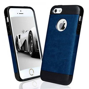 iPhone 5 case, iPhone 5S case, Desiro Durable TPU Slim Fit Protective Case Cover for Apple iPhone 5/5S (Navy Blue)