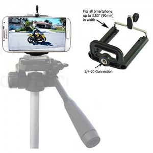 Universal Smartphone Tripod Adapter Holder for Apple iPhone 6 Plus 5S 5 4s Samsung Galaxy S6 S5 Note Edge Mount Clip Holder with 1/4-20 Connector