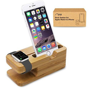 Apple Watch Stand, Aerb iWatch Bamboo Wood Charging Stand Bracket Docking Station Stock Cradle Holder for Both 38mm and 42mm