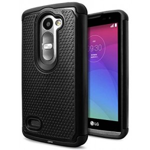 LG Leon / Tribute 2 Case, Cimo [Shockproof] Case Heavy Duty Shock Absorbing Dual Layer Protection Cover for LG Leon / Tribute 2 - Black