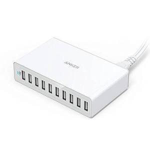 [Most Compact 10-Port USB Charger] Anker PowerPort 10 (60W 10-Port USB Charging Hub) for iPhone 6s / 6 / 6 Plus