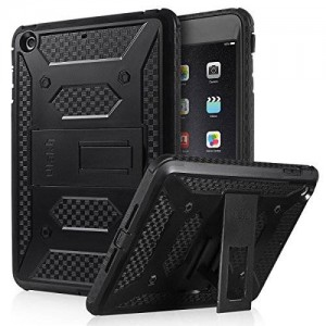 ULAK iPad Mini Case [KNOX ARMOR] Full-Body Rugged Hybrid Protective Case Kickstand for Apple iPad Mini 1/2/3 with Built-in Screen Protector (Black)