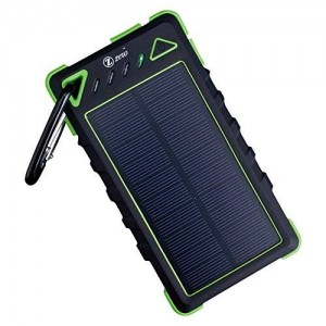 Zzero Portable Solar Panel Charger 8000Amh Dual Usb Port for Outdoor Color Green