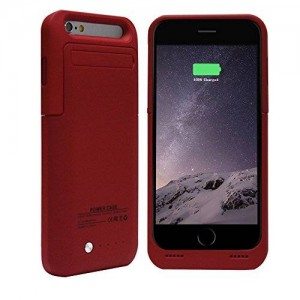BSHW Slim Rechargeable Power Bank External Battery Charger Powered Backup Pack for iphone 6 4.7inch Case (Red)