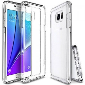 ULAK [CLEAR SLIM] Premium Transparent Back Panel Shock Absorption Bumper Hard TPU Bumper Case for Samsung Galaxy Note 5