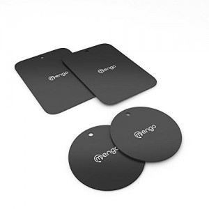 Mengo Magna-Snap Metal Plates For Car Mount (4 Metal Plates)