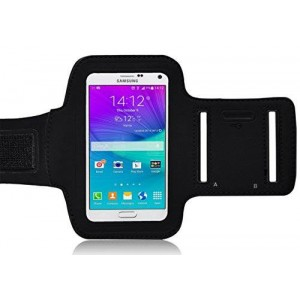 Ionic Pro Galaxy Note 5 Armband, Ionic ACTIVE Sport Armband Samsung Galaxy Note 5 Case (Black)