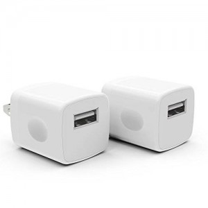 PowerJive PV-1ATC Travel Charger Adapter for iPhone 3/4/4S/5/5s/6/6s Plus and iPod Touch Nano - White (2 Pack)
