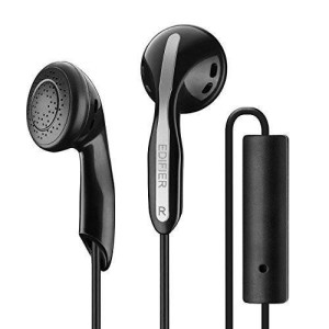 Edifier P180 / H180P Stereo Earbud Earphone Cell Phone Headphone with Mic and Remote for Apple iPhone Samsung HTC Nokia - Black
